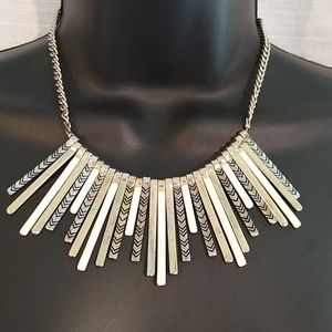The Limited Silver Toned Black White Necklace